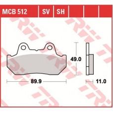 TRW Тормозные колодки MCB512SH