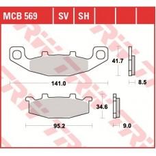 TRW Тормозные колодки MCB569SV