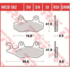 TRW Тормозные колодки MCB582SI